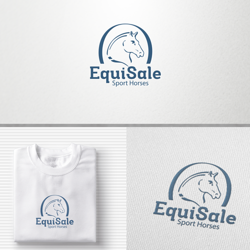 Equestrian logo with the title 'Equi Sports sale'