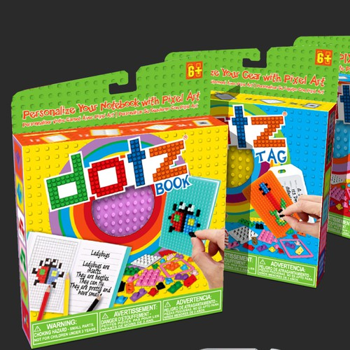 Pixel art design with the title 'the dotz® company'