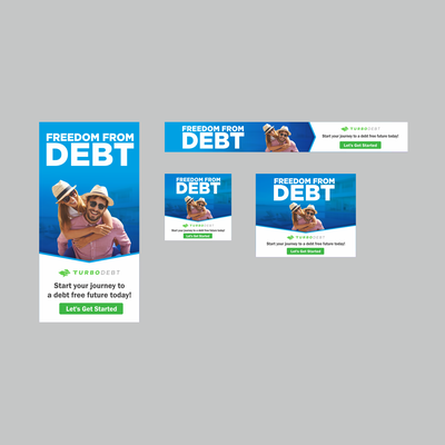 Banner Ad Design For TurboDebt