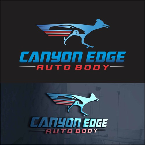 Roadrunner design with the title 'canyon edge'