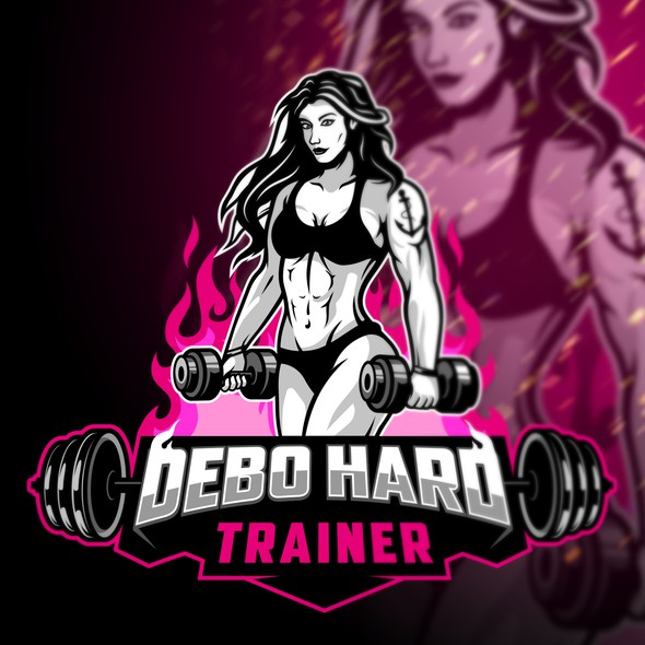 Trainer logo with the title 'Debo hard trainer'