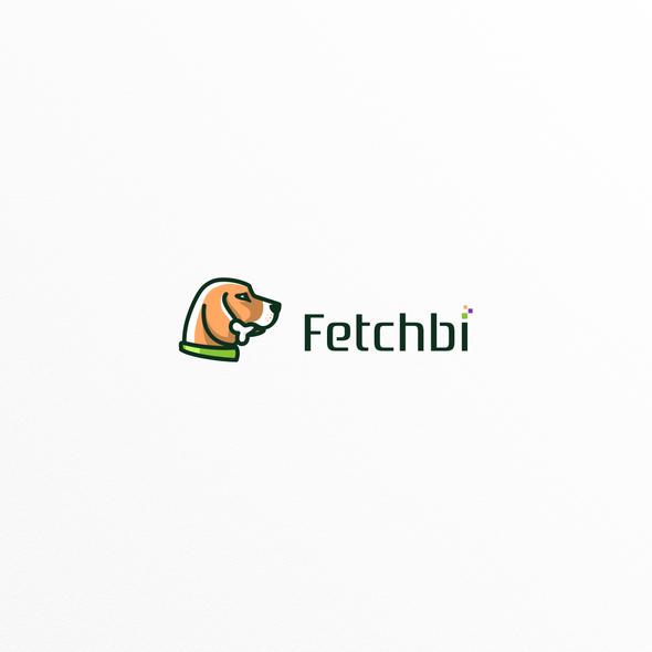 Beagle logo with the title 'Beagle dog's head logo for Fetchbi'