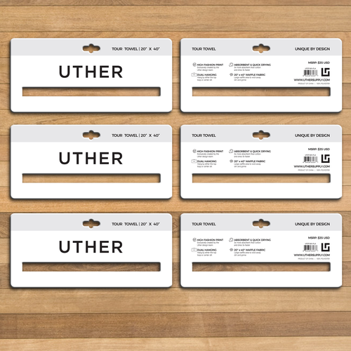 Header design with the title 'Uther Towel Header'