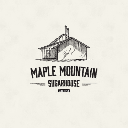 Caramel logo with the title 'Logo for a Vermont Maple Syrup producer'