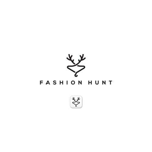 Horn logo with the title 'Logo Fashion hunt'