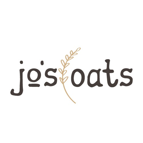 Dairy logo with the title 'Hand drawn oat milk company logo'