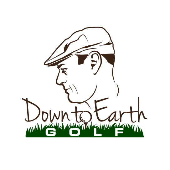 Profile logo with the title 'Brush Stroke Style Golf Logo'