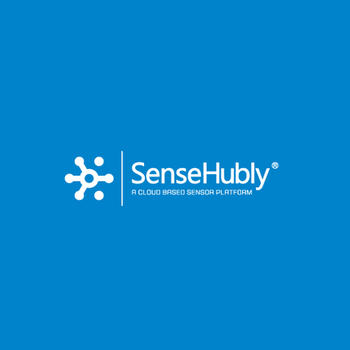 Hexagon logo with the title 'Logo design for SenseHubly'