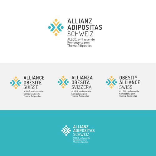 Swiss brand with the title 'Logo proposal for the Swiss Obesity Alliance'