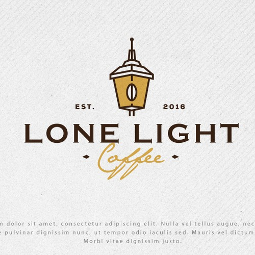 Coffee house design with the title 'Logo for Lone Light Coffee'
