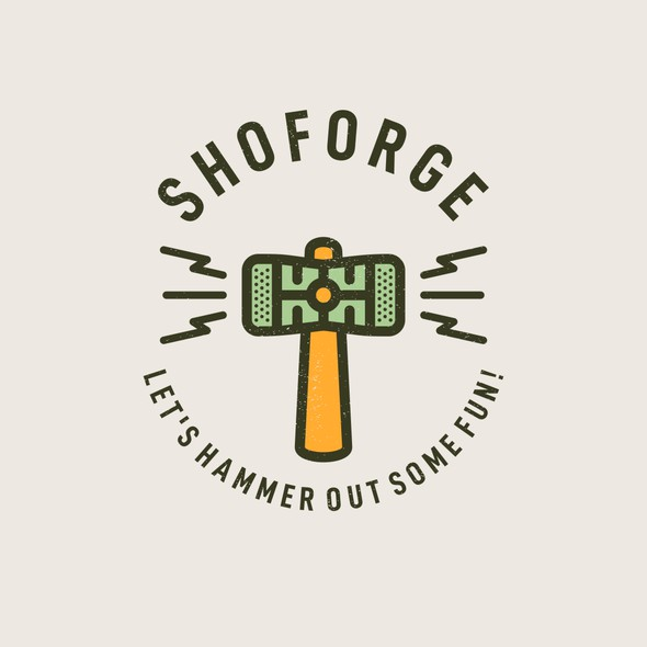 Lightning design with the title 'SHO FORGE '