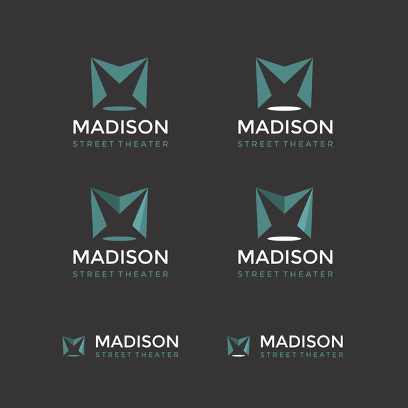 Theater design with the title 'Contemporary logo for Madison street theater in Chicago'