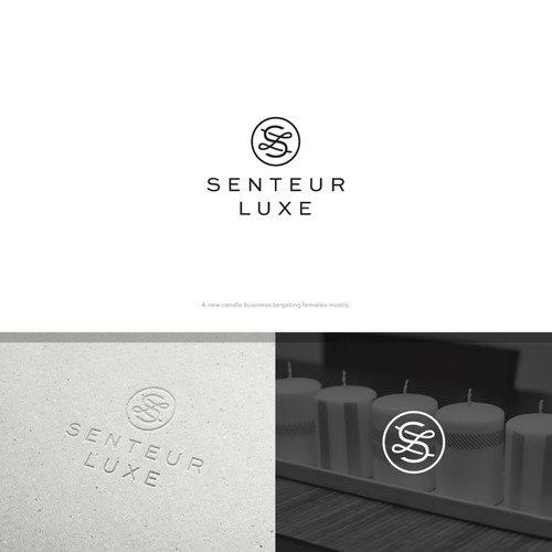 Wax logo with the title 'Senteur Luxe'