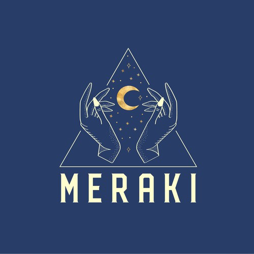 Music brand with the title 'Logo Design for Techno Music Lovers - MERAKI'