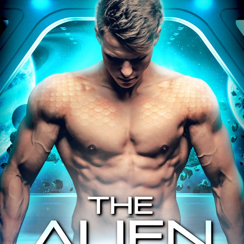 Alien book cover with the title 'Scifi Romance Book Cover'