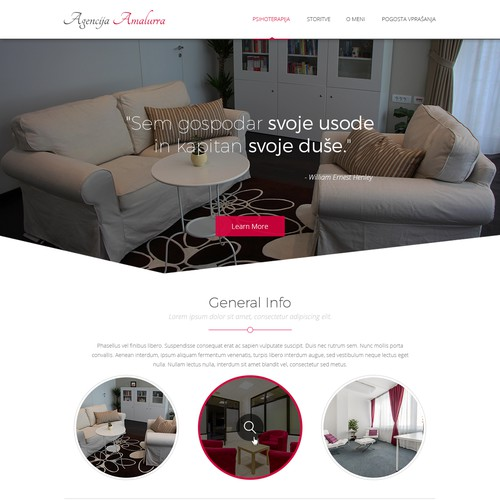 Classy website with the title 'Simple and elegant web design for FOR RENT OFFICES '