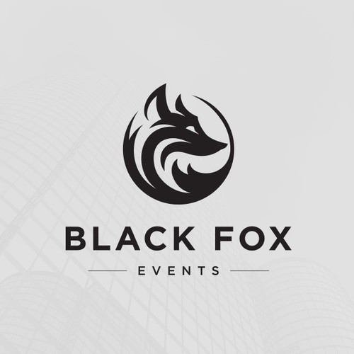 Animal shelter logo with the title 'Black Fox Events'