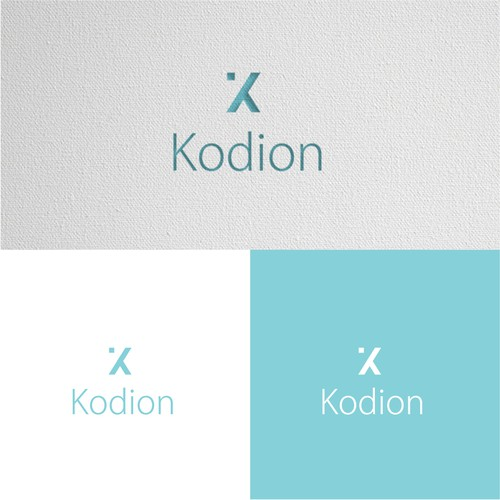 Tech company logo with the title 'Kodion logo'