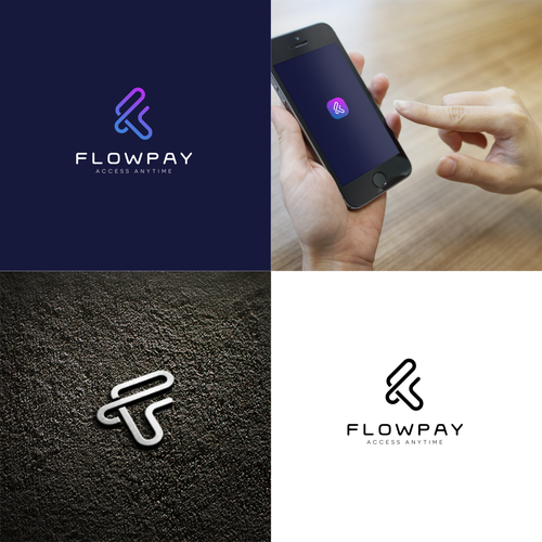 Payment design with the title 'Flowpay logo'