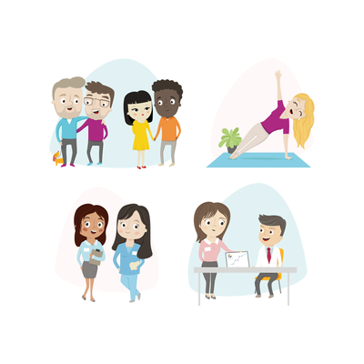 Lifestyle characters for website
