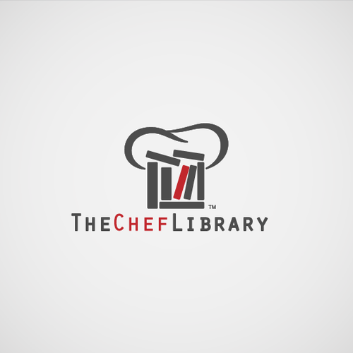 Library logo with the title 'logo for The Chef Library '