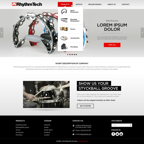 Instrument design with the title 'Rhythmtech.com'