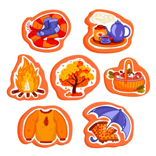 Sweater design with the title 'Fall / Autumn Cookies designs'