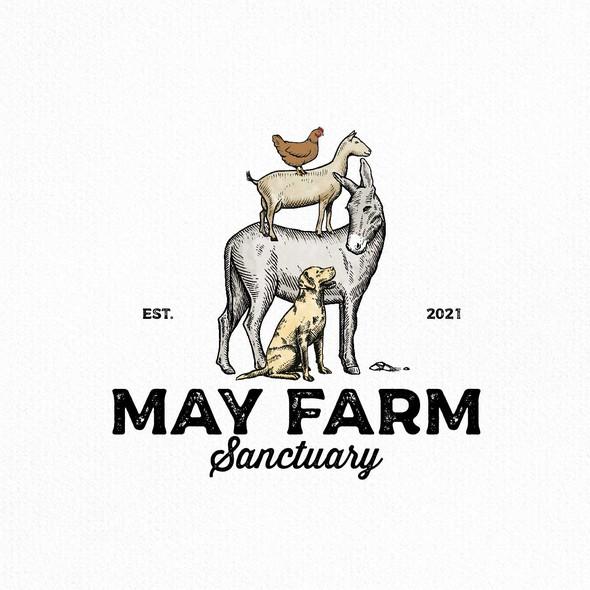 Sanctuary logo with the title 'May Farm Sanctuary'