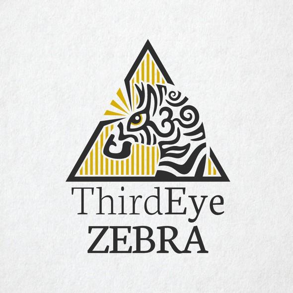 Third eye design with the title 'Zebra'