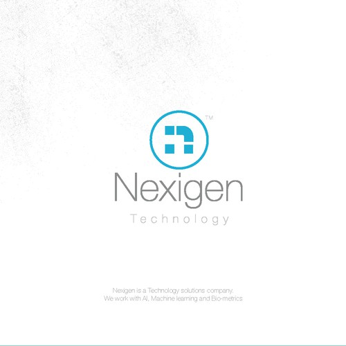 Cyan logo with the title 'Technology Edgy Logotype'