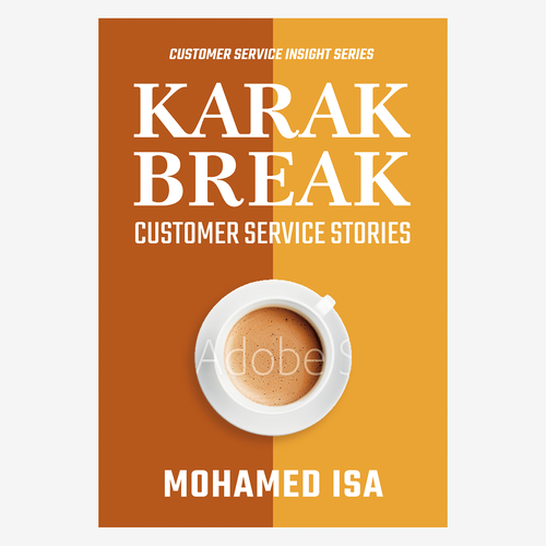 White and orange design with the title 'Book Cover Concept for Business Book'