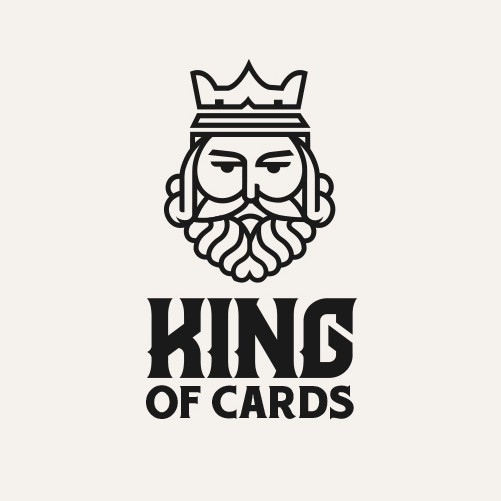 Playing card logo with the title 'playing card company logo'