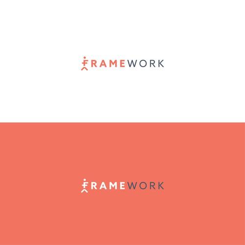 Pilates logo with the title 'FrameWork Pilates Logo Design'