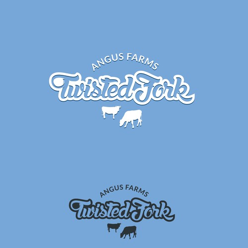 Cow brand with the title 'Twisted fork'