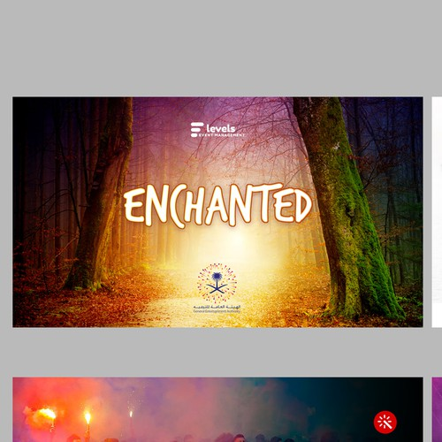 Event planning design with the title 'Entertainment Event Presentation'