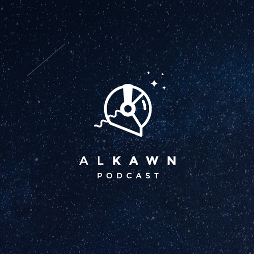 Headphone logo with the title 'Alkawn Podcast'