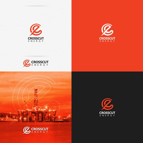 Lettermark logo with the title 'Logo for Crosscut Energy'
