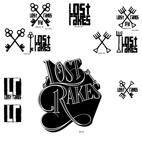 Ornate logo with the title 'Modified branding for Lost Rakes logo'