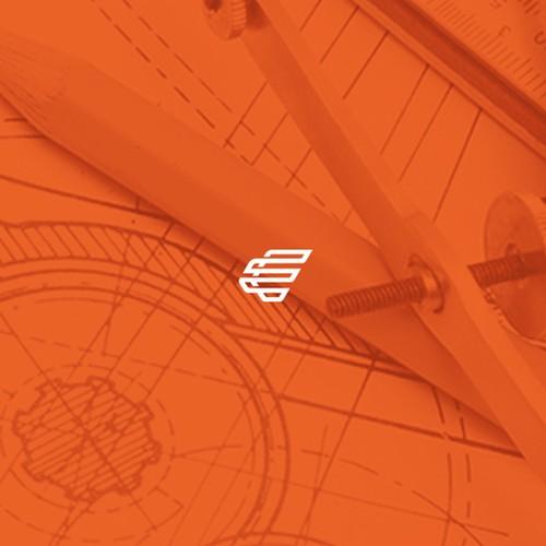 E logo with the title 'Concept logo for E'