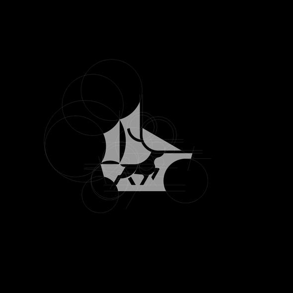 Deer logo with the title 'deer ship loogo'