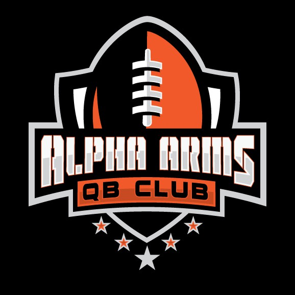 Arm design with the title 'Alpha arms football'