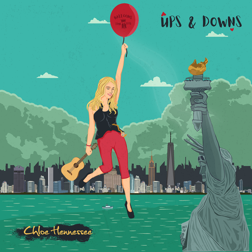 Entertainment artwork with the title 'Cd cover for chloe hennessee'