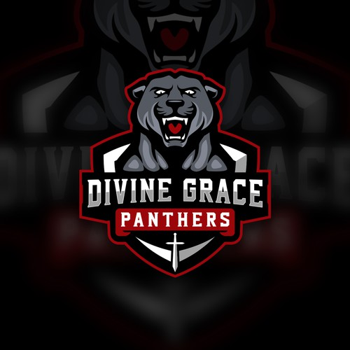 """Fierce logo with the title '""""Divine Grace"""" and/or """"Panthers""""'"""