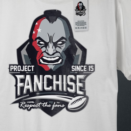 Rugby design with the title 'Project Fanchise'