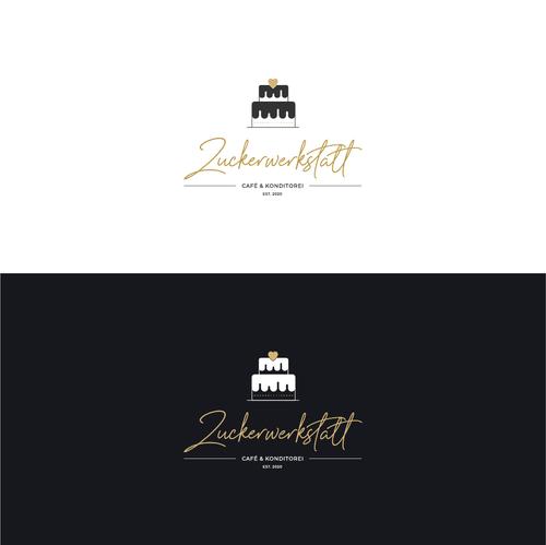 Patisserie design with the title 'Logo Design für die Zuckerwerkstatt'