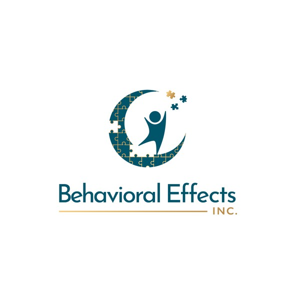 Autism design with the title 'Logo Behavioral Effects Inc'