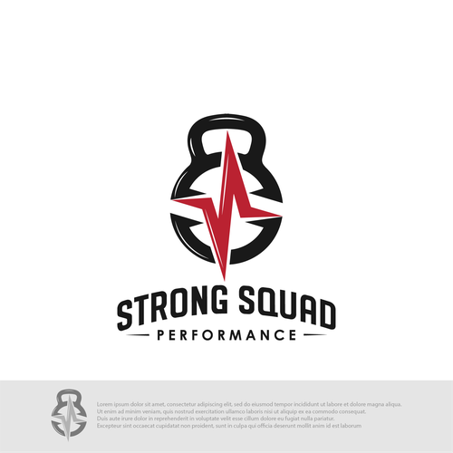 Performance design with the title 'Strong Squad Performance'