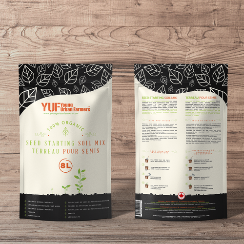 Sustainable packaging with the title 'Seed Starting pakaging'
