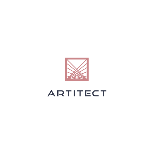Project management logo with the title 'Logo design for Artitect, a  modern interior design and real estate firm.'
