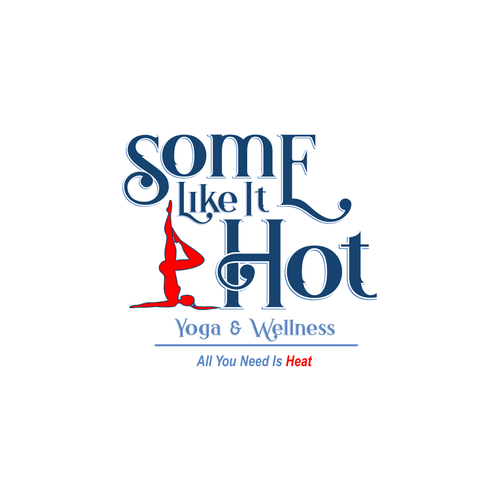 Heat logo with the title 'Sexy style for hot yoga studio'